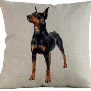 Pillow Cover- NEW- Miniature Pinscher Dog